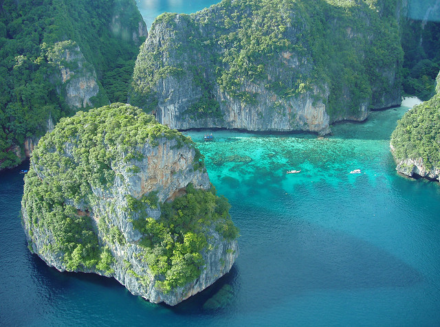 Losamah Bay, Phi Phi Islands from a seaplane