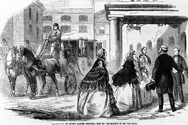 Destruction of Covent Garden Theatre - visit of Her Majesty Queen Victoria to the ruins © ROH 2012