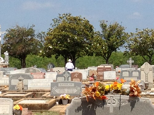 Cowboy in Cemetery