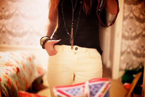 29.05.12 :: Rockin' Pastels& Trying out my lemon sorbet yellow skinny George jeans.