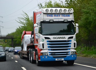 The Hay Team Scania R620 northbound Edinburgh Bypass in morning rush hour traffic May'12