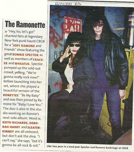 12-14-00 Rolling Stone Magazine (Joey Ramons and Friends at CBGB)