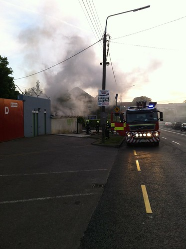 Fire at Páirc Ui Rinn (Cork) by despod