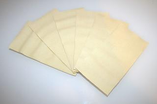 01 - Zutat Lasagneblätter / Ingredient lasagne sheets