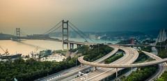 Tsing Ma Bridge - before the storm