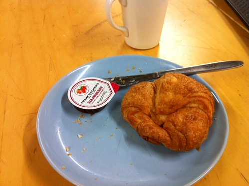 Croissant 2. I crumbled. You win this time, heavily discounted staff canteen. by benparkuk