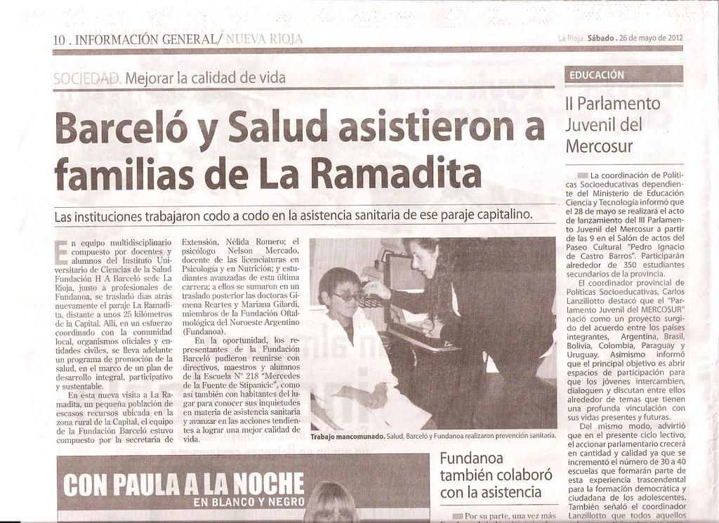 Diario Nueva Rioja - Fundación Barceló en La Ramadita - 26.05.2012