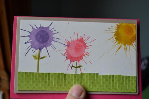 Splatter Flower Teacher's Card