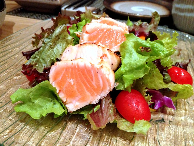 Salmon Tataki Sashimi