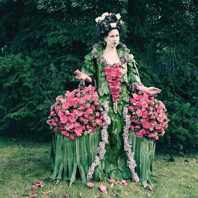 One of Dextras's previous works. She will create three original wearable sculptures for BBG's Spring Gala and After Party.