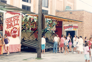 Saint Richard's Catholic Parish Church annual summer carnival.  Chicago Illinois. July 1987.