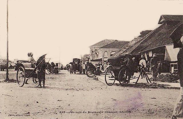 Un coin du Boulevard Charner - Chợ cũ trên đường Charner