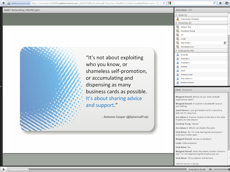 A screengrab from the webinar