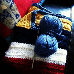 Crocheting progress. I am making a blanket for BabyCool. I am writing a blog post about what I am learning through the process. Deep stuff! Check out the blog in about 15 mins bbeingcool.com