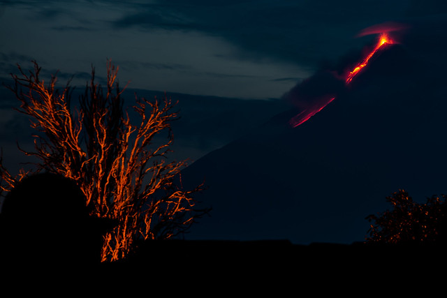 Volcano Fuego Eruption - Darker