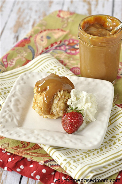 Fried Ice Cream with Dulce de Leche