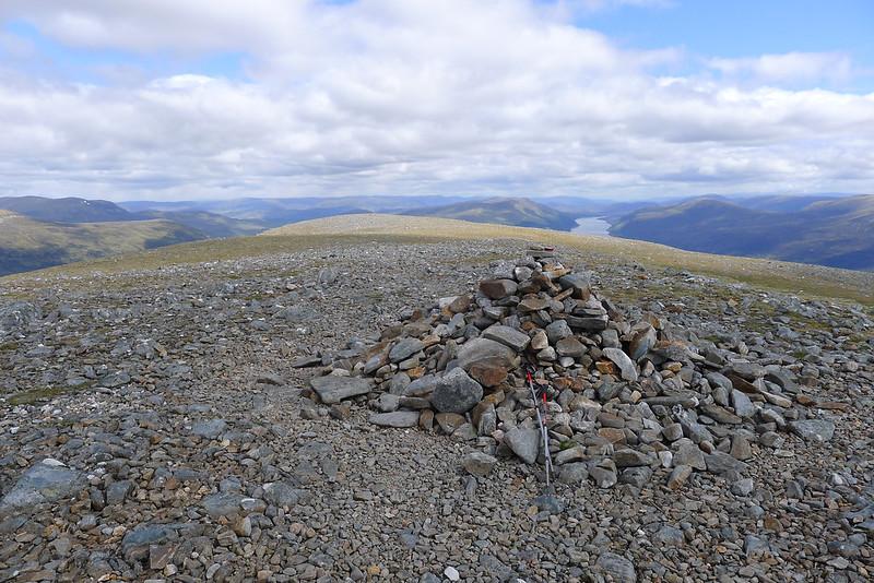 Summit cairn of Beinn Bheòil