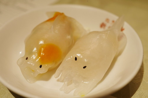 goldfish and squid dumpling