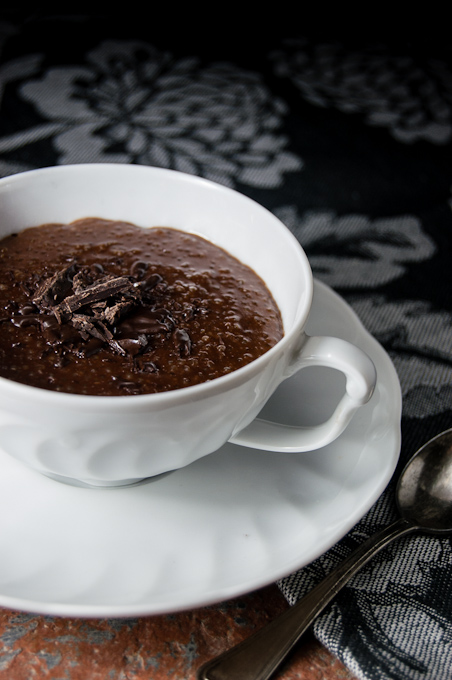 Chocolate & Rum Quinoa pudding
