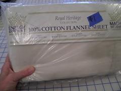 Flannel sheet