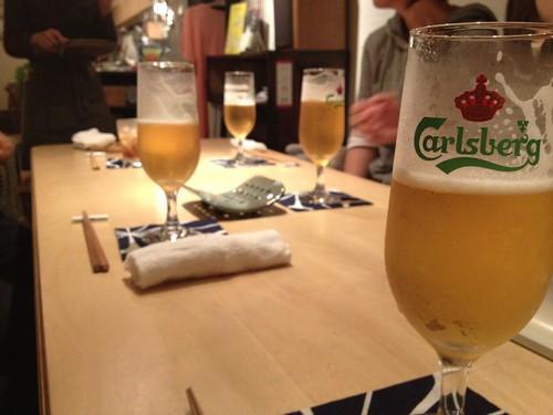 Carlsbergで乾杯