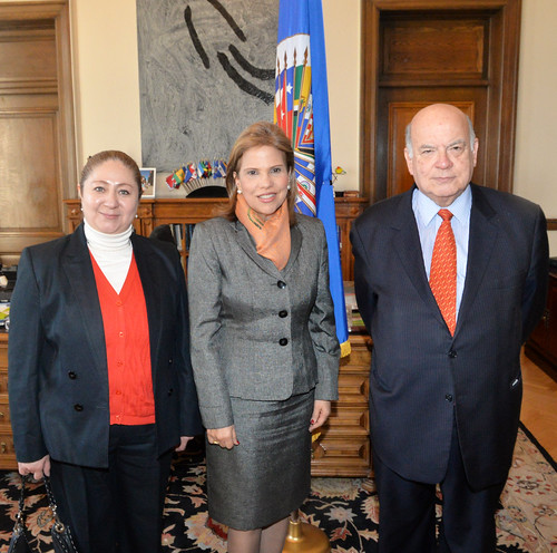 OAS Secretary General Receives the President of the Directing Council and the General Director of the Inter-American Children's Institute