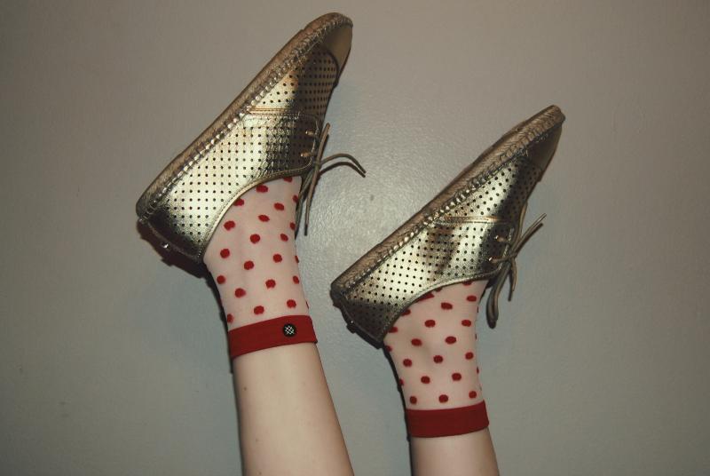 Gold_Isaac_Mizrahi_Shoes_Red_Polka_Dot_Stance_Socks