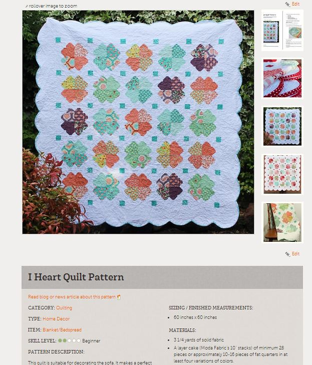 I heart quilt pattern on craftsy