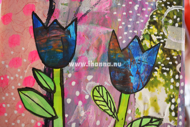 Art Journal Peek: Blue Tulips