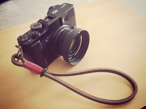 Fuji X10 with Gordy's strap