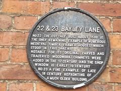 Photo of 22 & 23 Bayley Lane black plaque