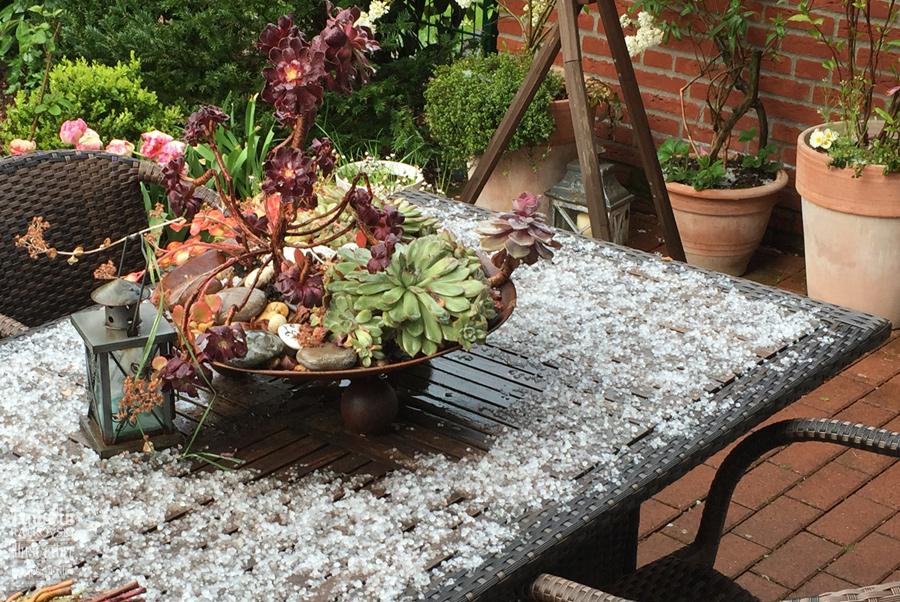 Hail in April