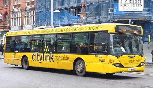 YN54 AHJ 'Nottinghham City Transport' 214 Scania N94UB OmniCity. Dennis Basford's railsroadsrunways.blogspot.co.uk