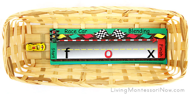 Beginning Reading - Race Car Blending Basket