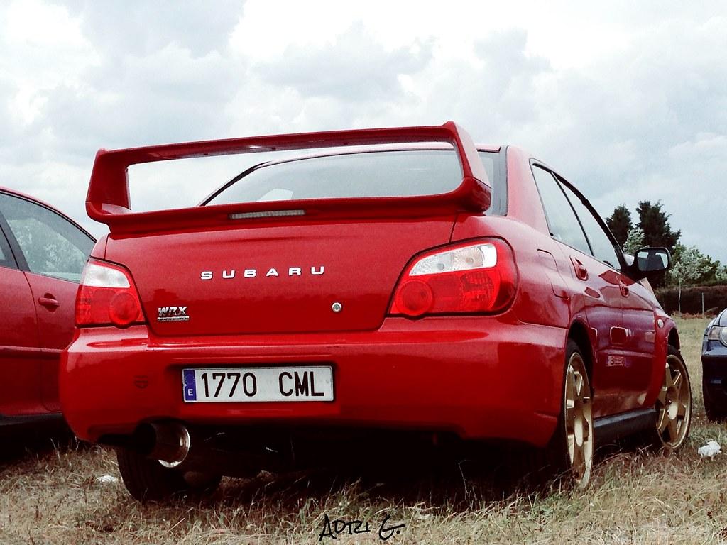 Subaru Impreza STI WRX en el Aeródromo de Matilla de los Caños, Valladolid, España.