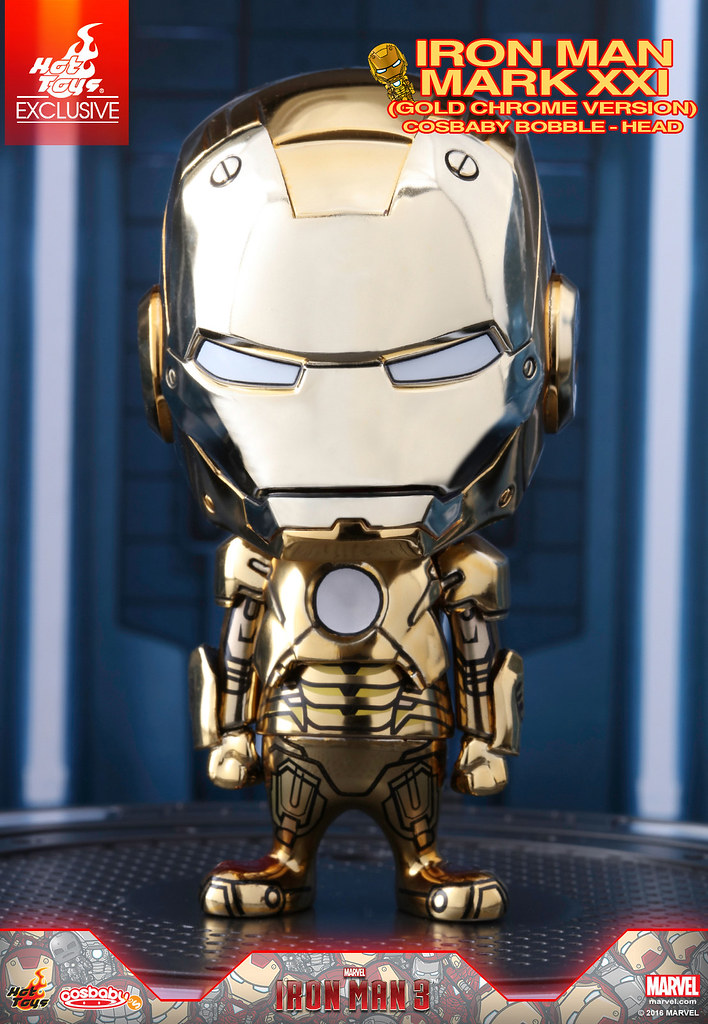 Hot Toys – COSB284 –《鋼鐵人3》鋼鐵人馬克21 Cosbaby 搖頭娃娃(金色電鍍版) Iron Man Mark XXI (Gold Chrome Version) Cosbaby