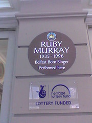 Photo of Ruby Murray brown plaque