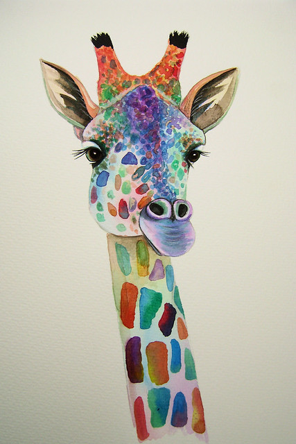 Giraffe Painting Flickr Photo Sharing