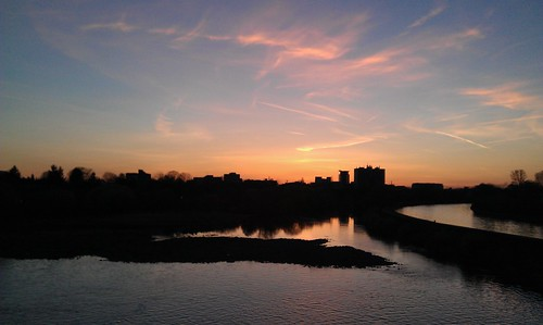 Sonnenuntergang Neckar by HDValentin