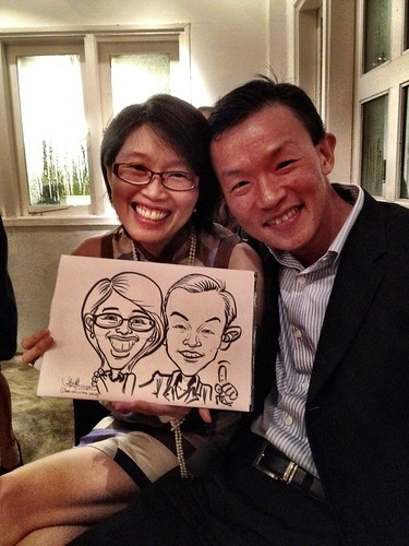 Caricature live sketching for Diageo Singapore Pte Ltd - 11