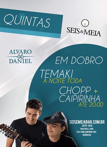 Flyer Alvaro & Daniel by chambe.com.br