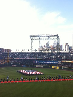 Opening night at Safeco Field