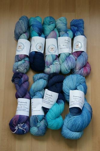 Handgefärbte Wolle von Piratenschmixi