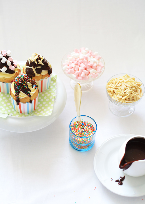 Gluten Free Scallywag - Vanilla Sundae Cupcakes for my 3rd Blog Birthday!