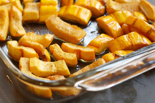 Roasted delicata squash by Eve Fox, Garden of Eating blog, copyright 2012