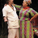 Joseph Kamal (Mr. Harari) and Tonye Patano (Mama Nadi) in the Huntington's production of Lynn Nottage's RUINED, a co-production with La Jolla Playhouse and Berkeley Repertory Theatre directed by Liesl Tommy, Jan. 7 — Feb. 6, 2011 at the Avenue of the Arts / BU Theatre. Photo: Kevin Berne