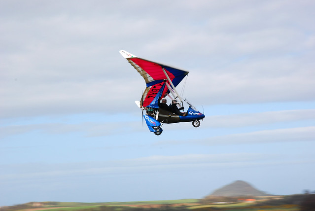 Coastkid on a microlight