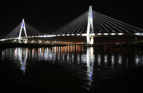 night iran clear cablebridge ahwaz karun ahvaz پل khuzestan خوزستان اهواز khuzestanprovince 8thbridge کارون پلکابلی ahwāz