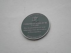 Photo of Edmund Sexton Pery green plaque