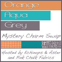 Orange / Aqua / Grey Mystery Charm Swap